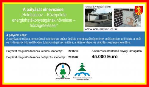Schválené dotácie Zemianska Olča